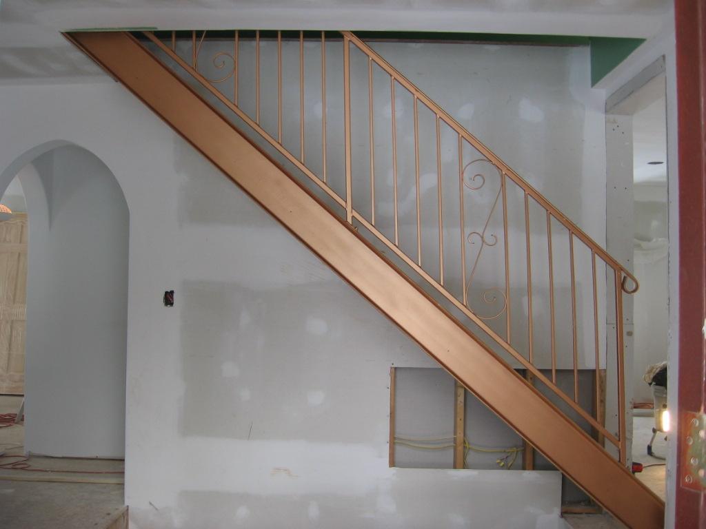 Eagle welding and machine custom designed stairs for Custom stairways